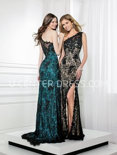 $132.39-Sheath Split-Front One-Shoulder Sleeveless Lace Evening Gown. http://www.ucenterdress.com/sheath-split-front-one-shoulder-sleeveless-lace-prom-dress-pMK_300341.html.