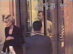 Diana is captured in this security video footage entering the Ritz Hotel in Paris for dinner before the crash
