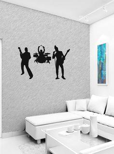 Love Peace Music Hippie Guitar Wall Art Sticker Decal b726