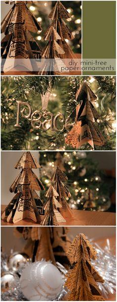 Christmas ● DIY ● Tutorial ● Mini Tree Paper Ornaments