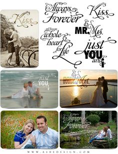 Word Art Collection - JUST YOU & I - (5) Custom Quotes for your Images and Designs
