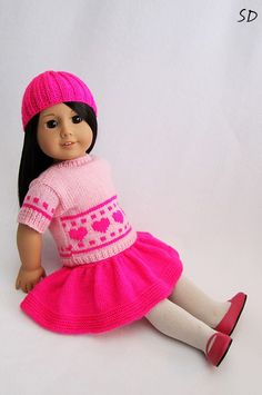 Valentines Day outfit for American Girl by StassyDodge on Etsy