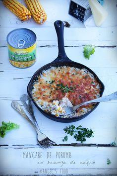 Mancare de porumb Sun Food cu branza de capra I Foods, Recipes, Rezepte, Recipe, Cooking Recipes