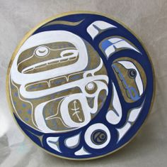 "Moon Dance 14"" Drum Deer Skin, Acrylic Paint Private Collection, Vancouver, BC March 2013 Native Art, Native American Indians, Drums For Kids, Haida Art, Inuit Art, Tlingit, Native Design, Canadian Art, Coastal Art"