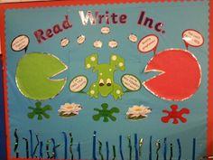 Read Write Inc display Class 1 Eyfs Classroom, Classroom Board, Bulletin Boards, Phonics Games, Jolly Phonics, Phonics Display, Read Write Inc, School Displays, Classroom Organisation