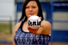 Senior picture / cool with a baseball