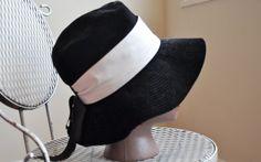 Vintage 60s Mod Wide Brimmed Black Velvet and by PelhamRoadVintage, $20.00