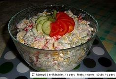 Csirkesaláta 2.- fogyisan Healthy Food Options, Healthy Recipes, Cold Dishes, Fitness Diet, Guacamole, Salad Recipes, Bacon, Paleo, Pork