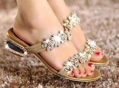 Zapatos de ceremonia para verano: Fotos de los mejores - Sandalias con piedras preciosas