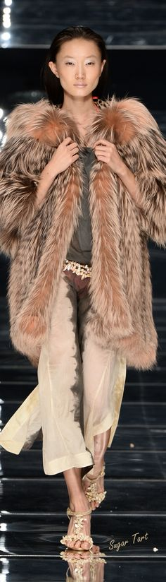 Not sure I can ever do fur but this entire outfit is Glam. Carlo Tivioli - Spring/Summer 2015.
