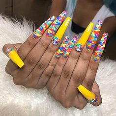 nails, You can collect images you discovered organize them, add your own ideas to your collections and share with other people. Drip Nails, Glow Nails, Bling Acrylic Nails, Aycrlic Nails, Summer Acrylic Nails, Best Acrylic Nails, Acrylic Nail Designs, Pastel Nails, Bling Nails