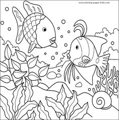 Fish color page, animal coloring pages, color plate, coloring sheet,printable coloring picture
