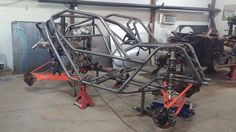 Razr Sharp getting close to final touches on the chassis. Adding some bars and weld up. Then panel time