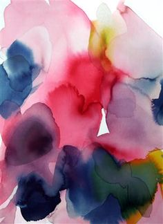 Alice Baber, Red Melting Point, Watercolor #FemaleAbstractArtists