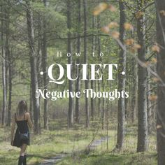 Earlier this month, I shared some of my favorite tips on how to be more positive. Today, I'm piggybacking on the topic and discussing how to quiet any negative thoughts in our heads. Let&#821…