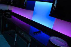 LiteTile illuminated glass splashback