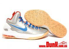 746345afeb8d Nike KD V Birch Photo Blue Sail Team Orange Kevin Durant Sneakers