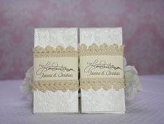 Gastgeschenke - Freudentränen Taschentücher Spitze, Personalisiert - ein Designerstück von Vintagelaedchen bei DaWanda