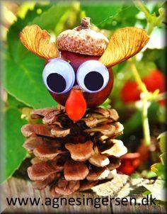 En ny ugle lavet af de allerførste kastanjer :) :) Vejledningen til uglen finder du lige her: http://agnesingersen.dk/blog/ugle2016 Husk at give mig noget credit når du bruger mine ideer <3 #kastanjer #chestnut #Kastanie #châtaigne