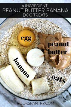 Homemade peanut butter banana dog treats for your pet .#Peanut #Butter #Banana #Treats #Dog #HomemadeDogTreatsWithPumpkin