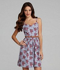 Kensie Floral Bouquet Chambray Sundress $98