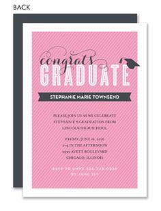 Girl Graduation Invitations | Girl Graduation Announcements - Invitation Box