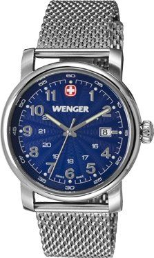 Wenger Urban Classic Blue Dial Stainless Steel Quartz Men's Watch 1041.107 Check https://www.carrywatches.com Wenger Urban Classic Blue Dial Stainless Steel Quartz Men's Watch 1041.107  #wengerwatches