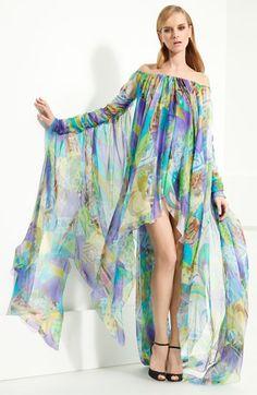 Emilio Pucci Patchwork Print Chiffon Gown