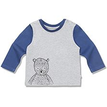 BEAR TEE, PALE GREY MELANGE - BEAR TEE