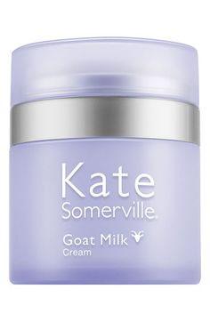 Kate Somerville® Goat Milk Cream. The only moisturizer I want ANYTHING to do with. Unscented, with mild lactic acid thanks to goat's milk, this cream is ultra gentle and ultra moisturizing. It sinks in really well, hydrating and not sitting on top of the skin. My face feels smoother, and down right creamy. On top of my other products, this is the icing on the cake. It never clogs my temperamental pores and works under any makeup.