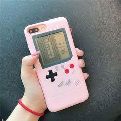 Gameboy Phone Case Back Cover Tetris Game Boy Player For iPhone 6 7 8 Plus X Game Boy, Iphone 7 Plus, Gameboy Iphone, Iphone Phone, Gameboy Games, Girl Phone Cases, Cute Cases, Coque Iphone, Iphone Models