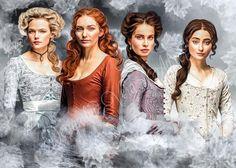 The women of Poldark. Bbc Poldark, Poldark 2015, Demelza Poldark, Poldark Series, Ross Poldark, I Movie, Movie Stars, Romantic Series, Ross And Demelza