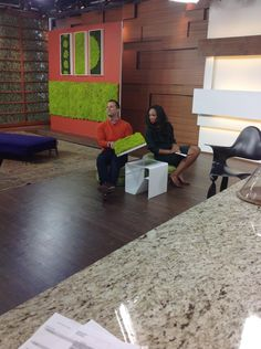 Verde Profilo MOSSdesign in the Canadian TV show @Cityline!  Thanks to @Yanic Simard!  #verdeprofilo #moss #mossdesign #Canada #green #interior #design