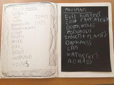 Waldorf ~ Ancient Persia ~ Ahura Mazdao & Ahriman ~ Light & Shadow ~ main lesson book