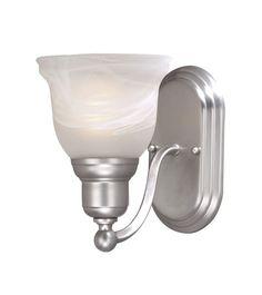 Vaxcel Lighting LS-VLU101 Lasalle 1 Light Bathroom Sconce - 13 Inches Wide Brushed Nickel Indoor Lighting Bathroom Fixtures Bathroom Sconce