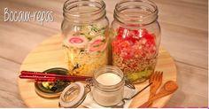 Les repas en bocaux, c'est tendance ! Mason Jars, Vegetables, Food, Canning Jars, Meal, Kitchens, Vegetable Recipes, Eten, Veggie Food