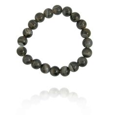 "10mm Round Botswana Agate Bead Bracelet, 8"" Amazon Curated Collection. $19.00. Made in China. Save 26% Off!"