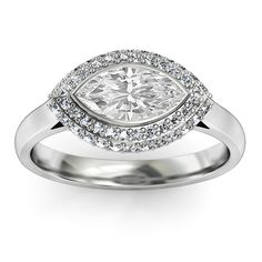 Marquise Horizontal Halo $1,360 this would be a good anniversary ring:)