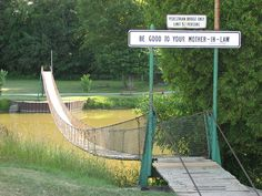 The Swinging Bridge in Croswell is the town's biggest attraction. Croswell is about four miles west of Lexington.