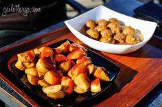 albondigas + patatas bravas in Parque del Buen Retiro, Madrid