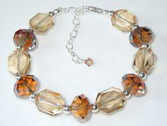 Swarovski Soft Neutral Tones Beaded Bracelet by BestBuyDesigns