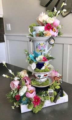 Alice in Wonderland/fairytale on Books Boho Tea Party centerpiece, Boho baby, wedding decor, baby shIdeas for wedding garden party decorations alice in wonderlandSuitable italian garden party ideas only on this pageYard event tips to acquire you in t Tea Party Centerpieces, Garden Party Decorations, Baby Shower Decorations, Teapot Centerpiece, Wedding Decorations, Alice In Wonderland Tea Party Birthday, Alice In Wonderland Wedding, Alice In Wonderland Decorations, Alice In Wonderland Flowers