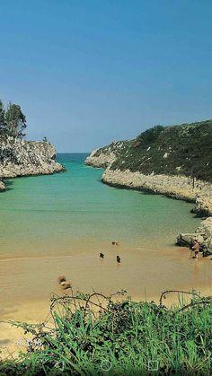 Playa de Guadamia-Llanes Golf Courses, Water, Outdoor, Norte, Drive Way, Beach, Gripe Water, Outdoors, Outdoor Games