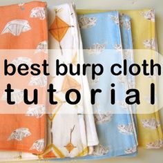 Homemade burpies. Check out fabric site she mentions- gauze prints.