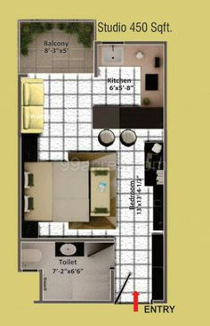 450 sq ft house - Google Search