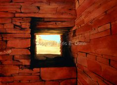 Watercolor of Chaco Canyon, New Mexico - Bonito Window #1