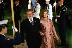 Dona Marisa Letícia, em compromisso oficial, ao lado do ex-presidente Lula (Foto: Getty Images)