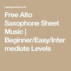 Alto Sax Sheet Music, Saxophone Music, Free Sheet Music, Elementary Schools, Easy, Musica, Primary School