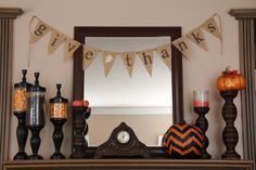 GIVE THANKS burlap banner - $28.00, via Etsy...or DIY!