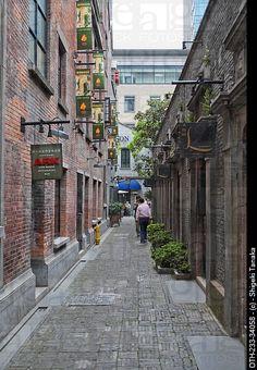Traditional architecture at Xintiandi, Shanghai, China